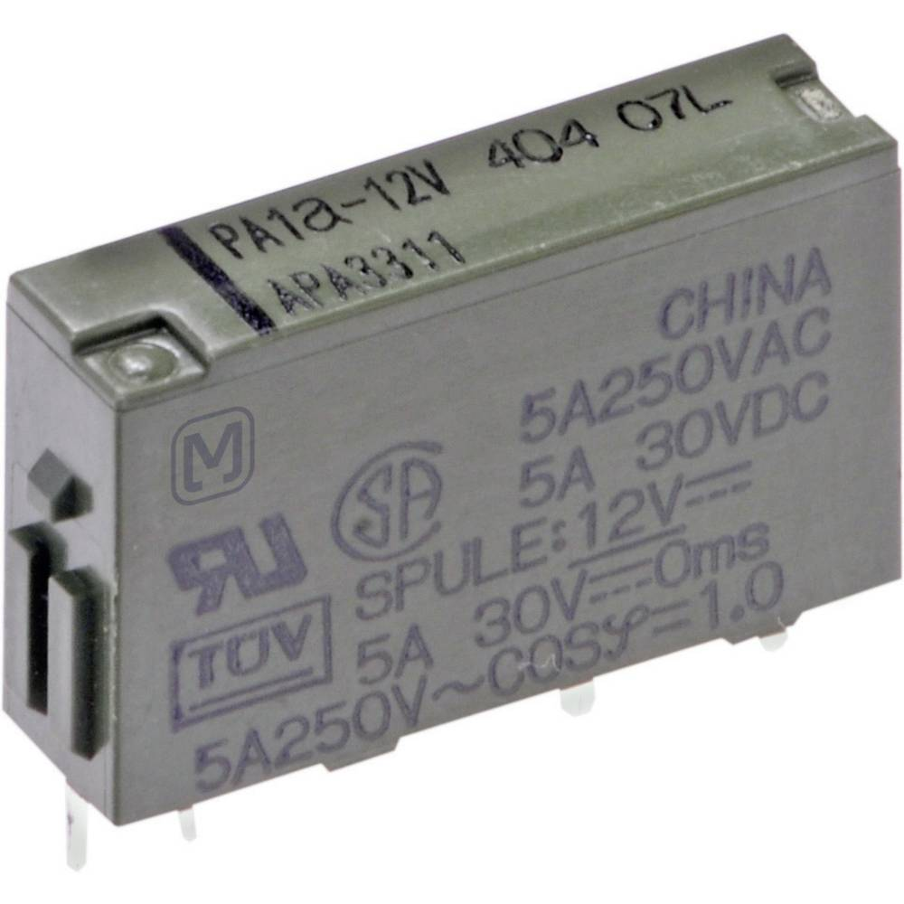 Rele za tiskano vezje 5 V/DC 5 A 1 x zapiralni Panasonic PA1A-5V 1 kos