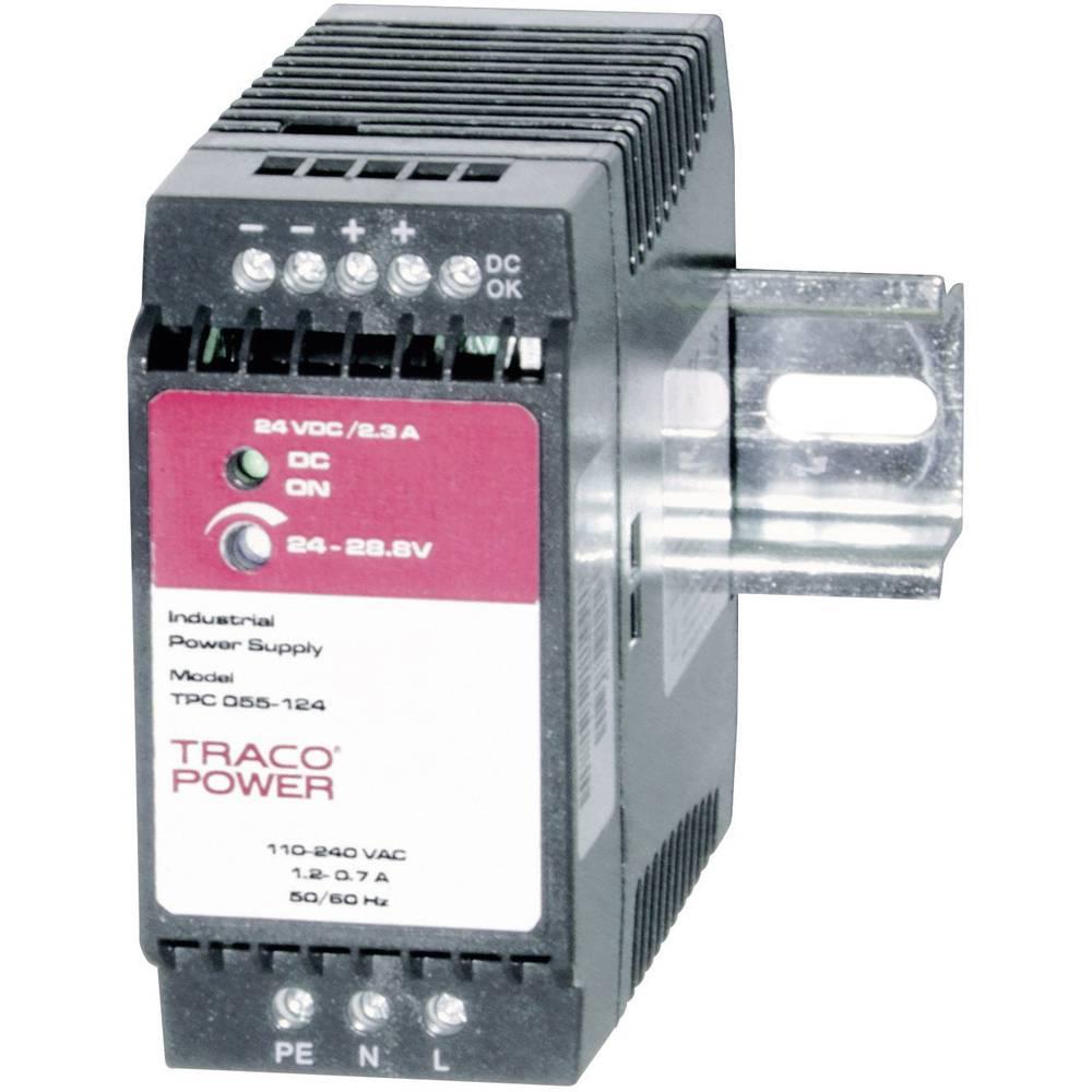 Adapter napajanja za profilne šine (DIN-letva) TracoPower TPC 055-112 15 V/DC 3.5 A 42 W 1 x
