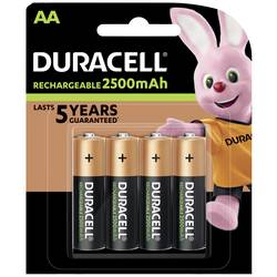 Laddbart batteri R6 (AA) NiMH Duracell PreCharged HR06 2400 mAh 1.2 V 4 st