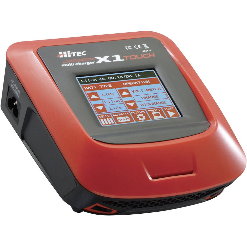 Multifunkcijski napajalnik za modelarstvo 110 V, 220 V 7 A Hitec X1 Touch NiMH, NiCd, LiPo, LiIon, LiFe