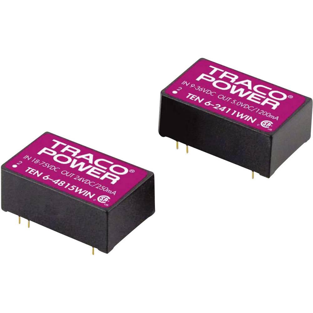 DC/DC pretvornik za tiskano vezje TracoPower TEN 6-4823WIN 48 V/DC 15 V/DC, -15 V/DC 200 mA 6 W št. izhodov: 2 x