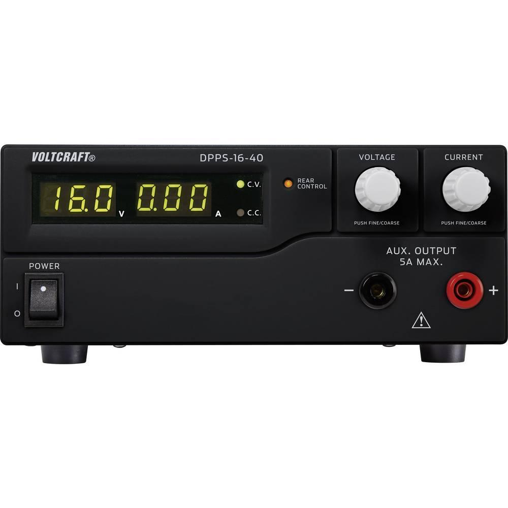 Laboratorijski napajalnik, nastavljiv VOLTCRAFT DPPS-16-40 1 - 16 V/DC 0 - 40 A 640 W USB z možnostjo programiranja, število izh