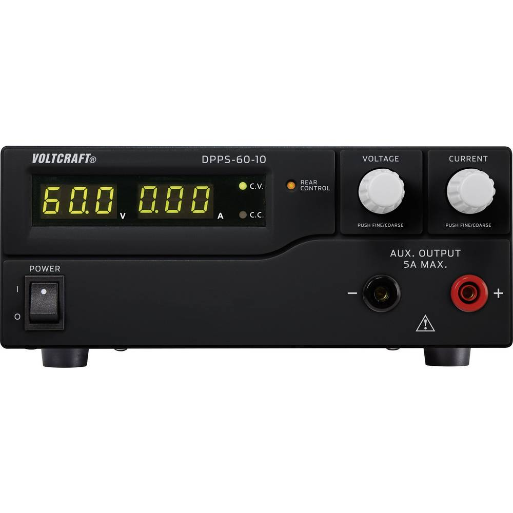 Laboratorijski napajalnik, nastavljiv VOLTCRAFT DPPS-60-10 1 - 60 V/DC 0 - 10 A 600 W USB z možnostjo programiranja, število izh