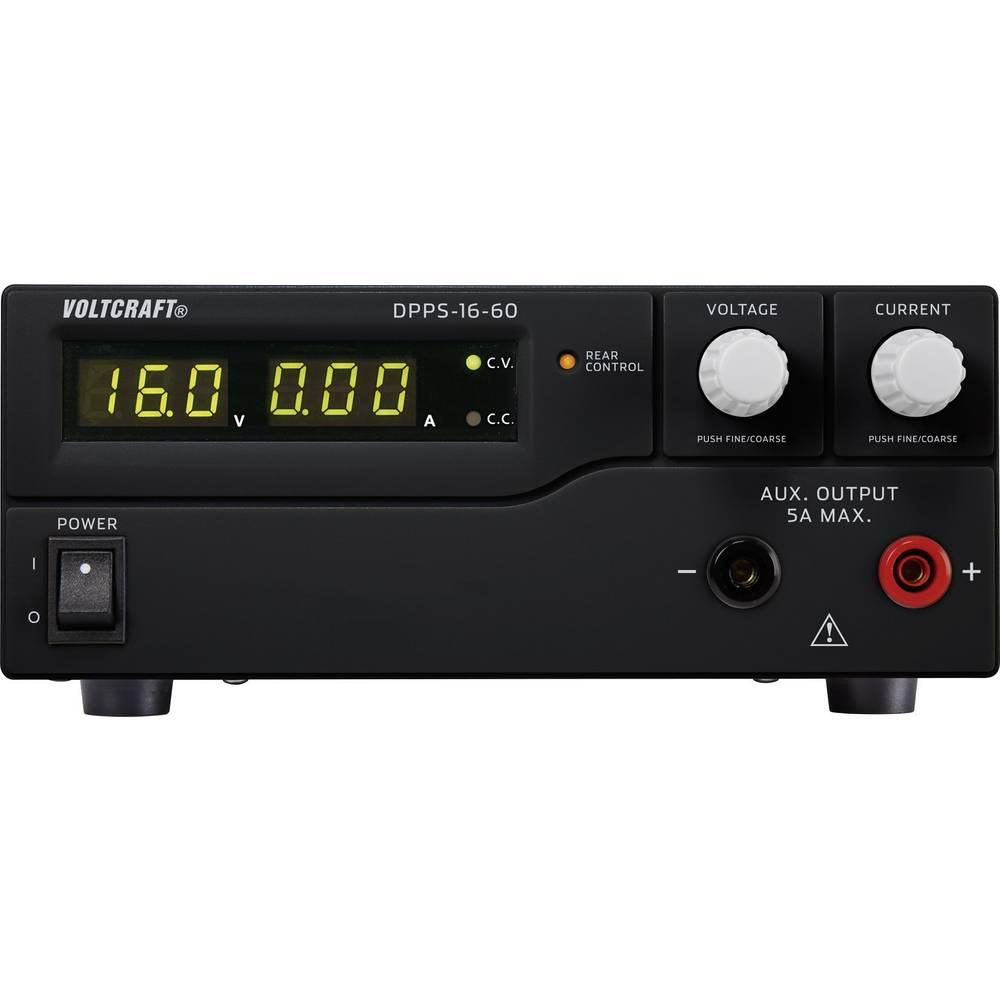 Laboratorijski napajalnik, nastavljiv VOLTCRAFT DPPS-16-60 1 - 16 V/DC 0 - 60 A 960 W USB z možnostjo programiranja, število izh