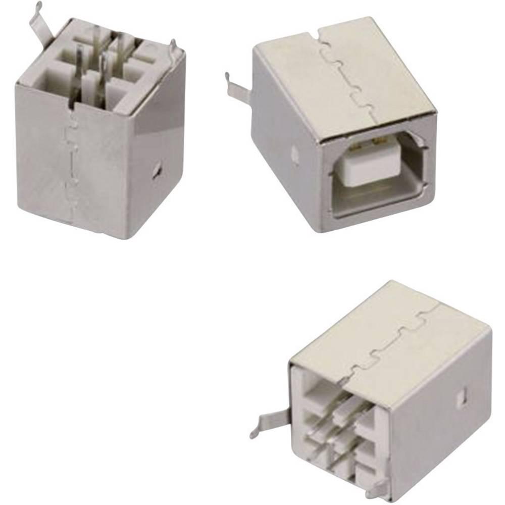 USB , tipa B stoječ WR-COM vtičnica, vgraden, vertikalen, stoječ Würth Elektronik vsebuje: 1 kos