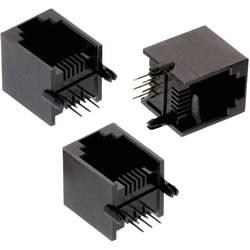 Modularni vtič, Tab Up, nezaščiten 6PxC WR-MJ vtičnica, vgraden vertikalen, polov: 6P6C črne barve Würth Elektronik 615006138421