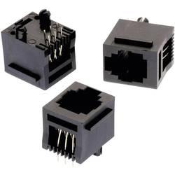 Vertikalno nezaščiten modularni vtič,, 6P6C z WR-MJ vtičnico, vgraden, vertikalen, polov: 6P6C črne barve Würth Elektronik 61500
