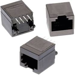 Vertikalno nezaščiten modularni vtič,, 8P8C WR-MJ vtičnica, vgraden, vertikalen, polov: 8P8C črne barve Würth Elektronik 6150081