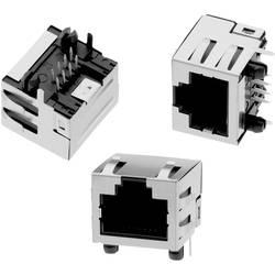 Vertikalno zaščiten modularni vtič,,8P8C priključek zadaj WR-MJ vtičnica, vgraden, vertikalen, polov: 8P8C črne barve Würth Elek