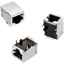 Modularni vtič, Tab Down, s priključkom spredaj, 8P8C WR-MJ vtičnica, vgraden horizontalen, polov: 8P8C črne barve Würth Elektro