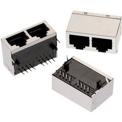 Modularni vtič, Tab Down, zaščiten 2-smerni vhod 8P8C WR-MJ vtičnica, vgraden horizontalen, polov: 8P8C črne barve Würth Elektro