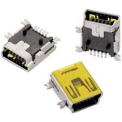 SMD Mini USB , tipa B pokončen 5-polni WR-COM vtičnica, vgraden horizontalen Würth Elektronik vsebuje: 1 kos