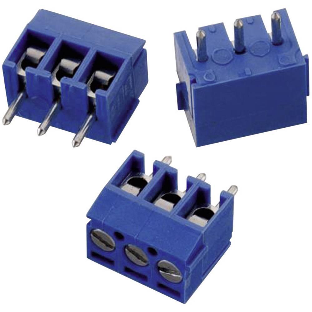Skrueklemmeblok Würth Elektronik WR-TBL 1031 1.31 mm² Poltal 3 Blå 1 stk