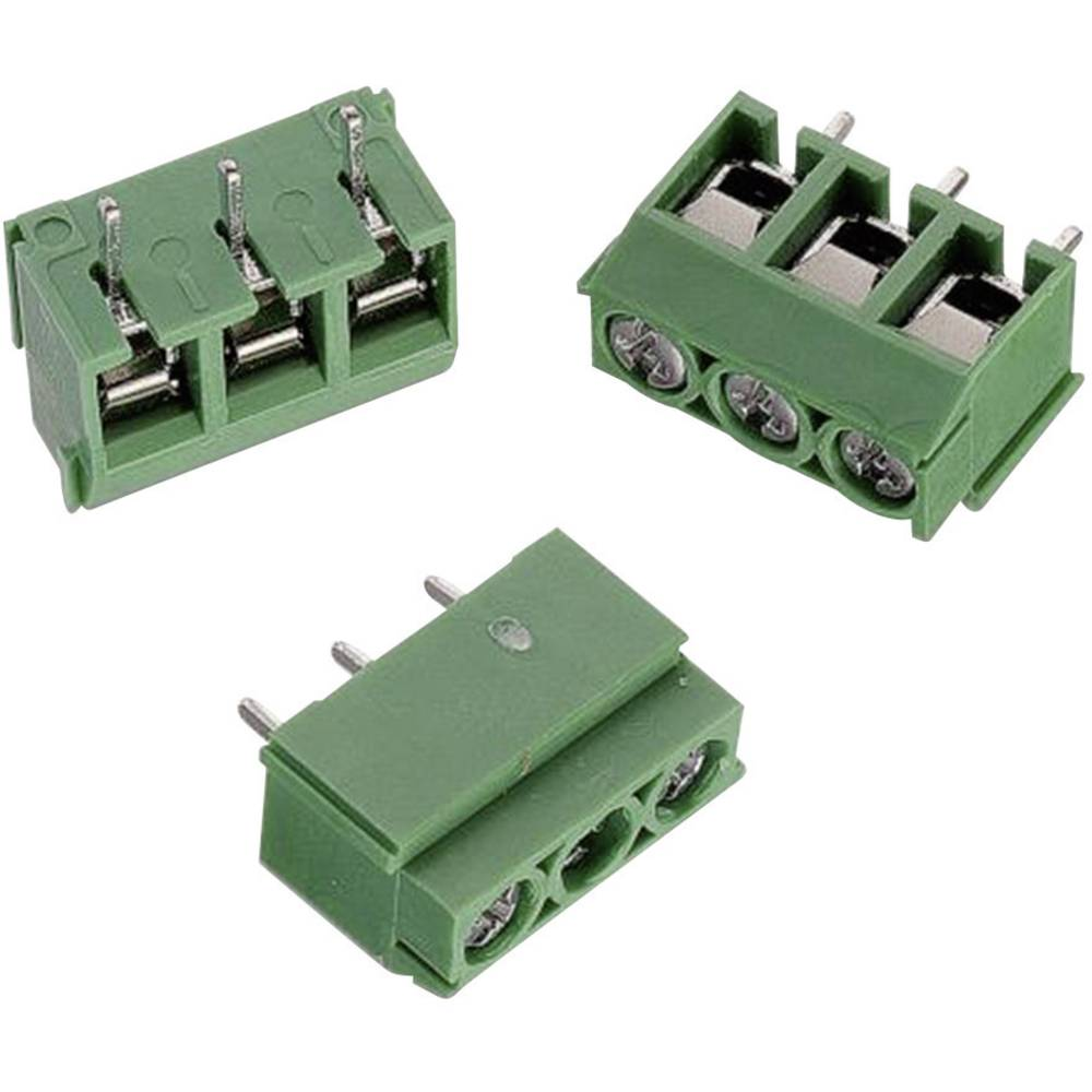 Skrueklemmeblok Würth Elektronik WR-TBL 111 2.00 mm² Poltal 2 Grøn 1 stk