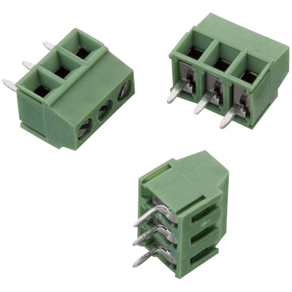 Skrueklemmeblok Würth Elektronik WR-TBL 2141 1.50 mm² Poltal 3 Grøn 1 stk