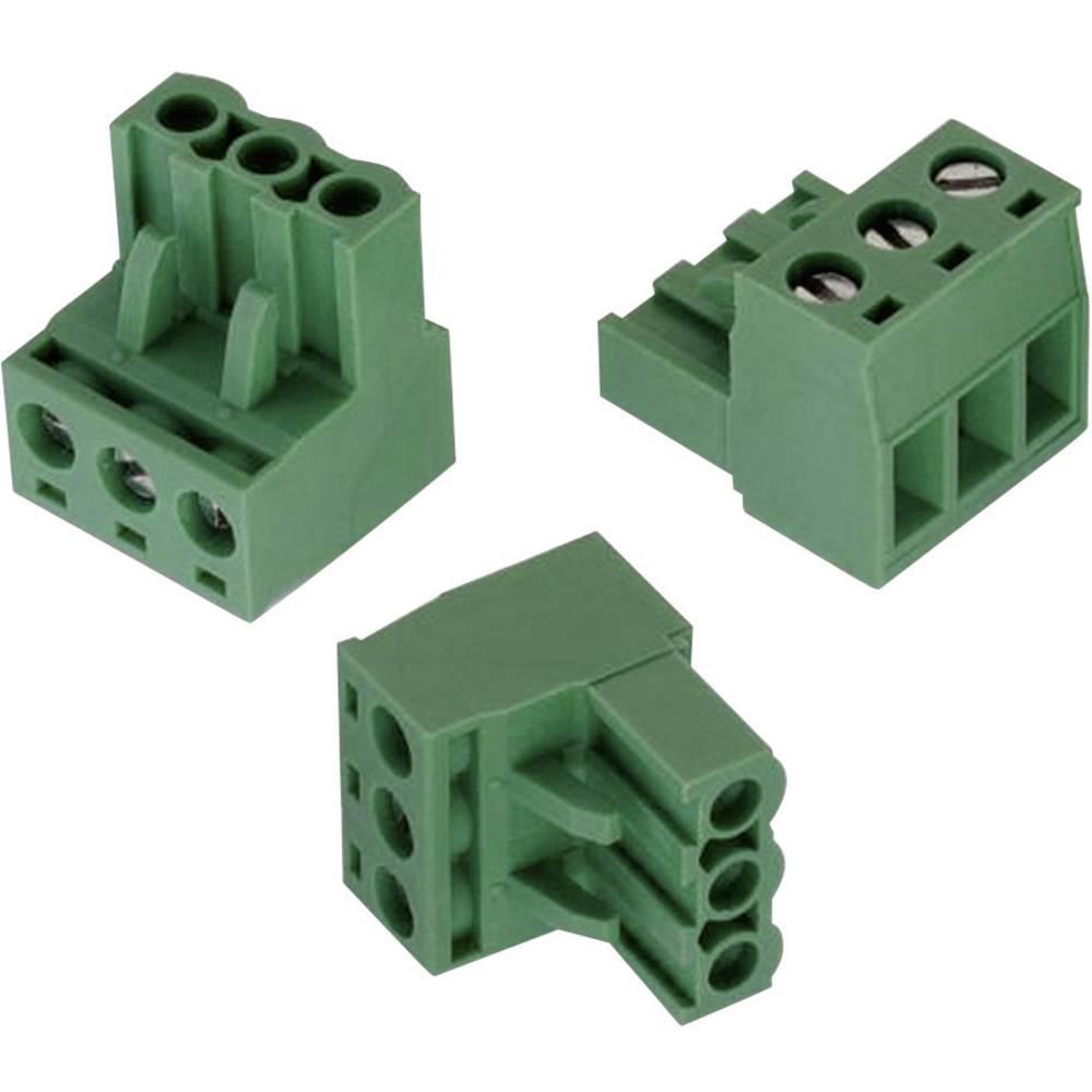 Tilslutningskabinet-kabel 351 (value.1360465) Samlet antal poler 3 Würth Elektronik 691351500003 Rastermål: 5.08 mm 1 stk