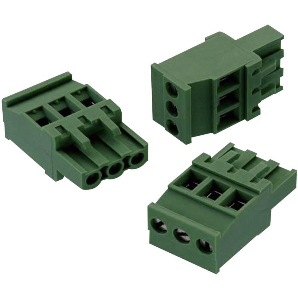 Tilslutningskabinet-kabel 352 (value.1360964) Samlet antal poler 3 Würth Elektronik 691352510003 Rastermål: 5.08 mm 1 stk