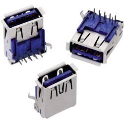USB 3.0 , tipa A pokončen WR-COM vtičnica, vgraden horizontalen Würth Elektronik vsebuje: 1 kos