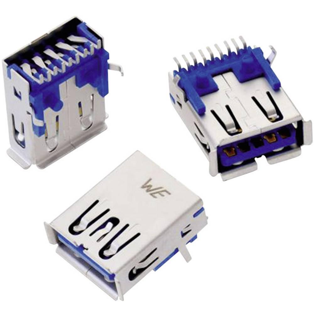 WR-COM USB 3.0 , tipa A pokončen SMD vtičnica, vgraden horizontalen Würth Elektronik vsebuje: 1 kos
