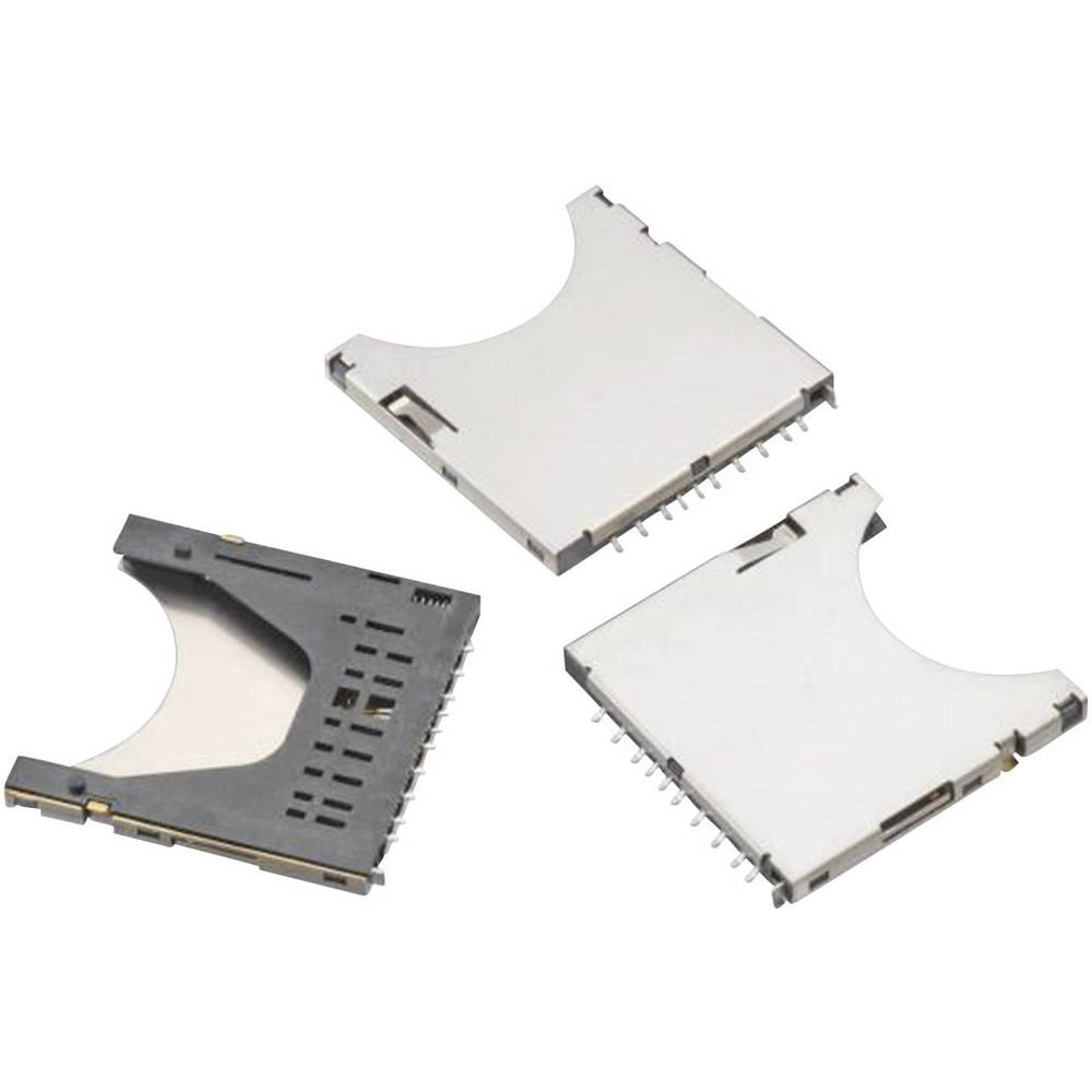 WR-CRD SD-reža za kartico, Push & Push, prepoznavanje kartic, 9 pinov, polov: 9 Würth Elektronik vsebuje: 1 kos