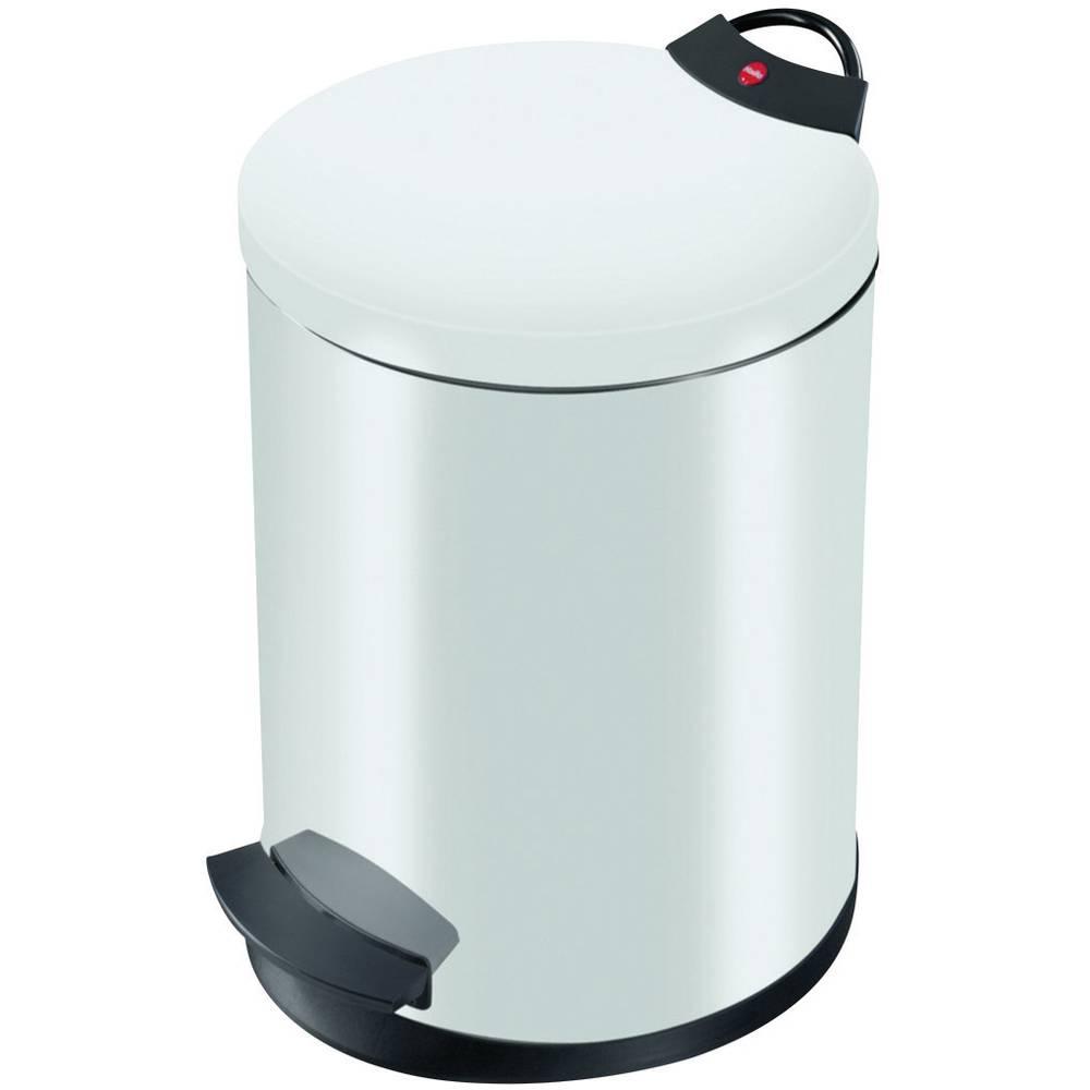 Koš za odpadke 13 l Hailo T2 M (premer x V) 270 mm x 375 mm bele barve, nožno odpiranje 1 kos
