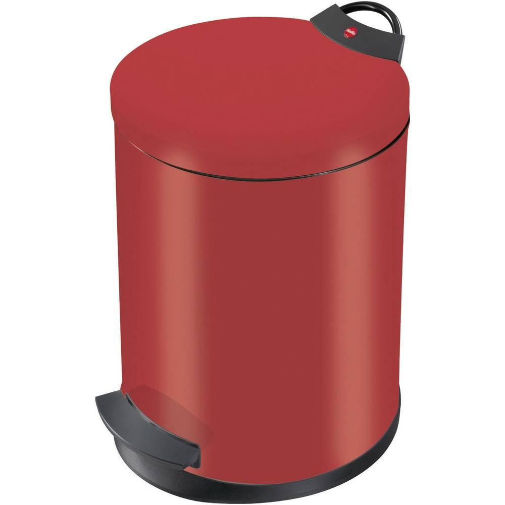 Koš za odpadke 13 l Hailo T2 M (premer x V) 270 mm x 375 mm rdeče barve, nožno odpiranje 1 kos