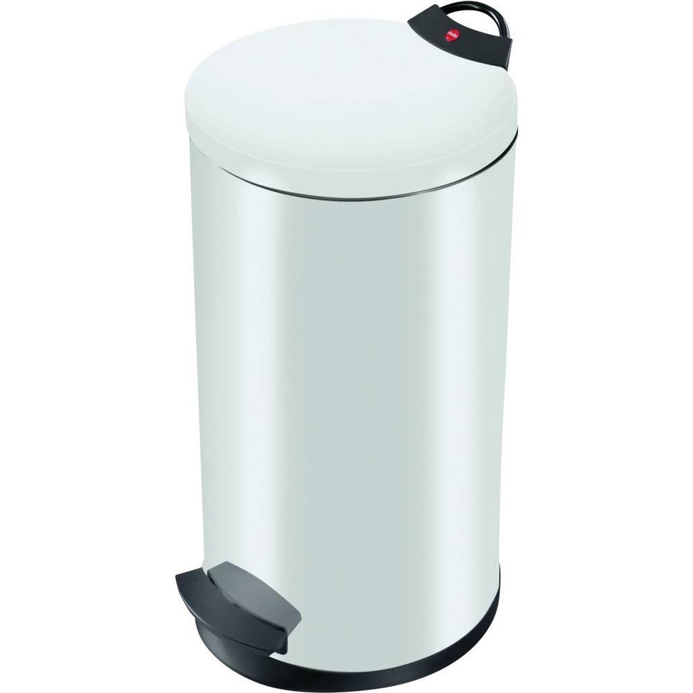 Koš za odpadke 20 l Hailo T2 L (premer x V) 270 mm x 595 mm bele barve, nožno odpiranje 1 kos
