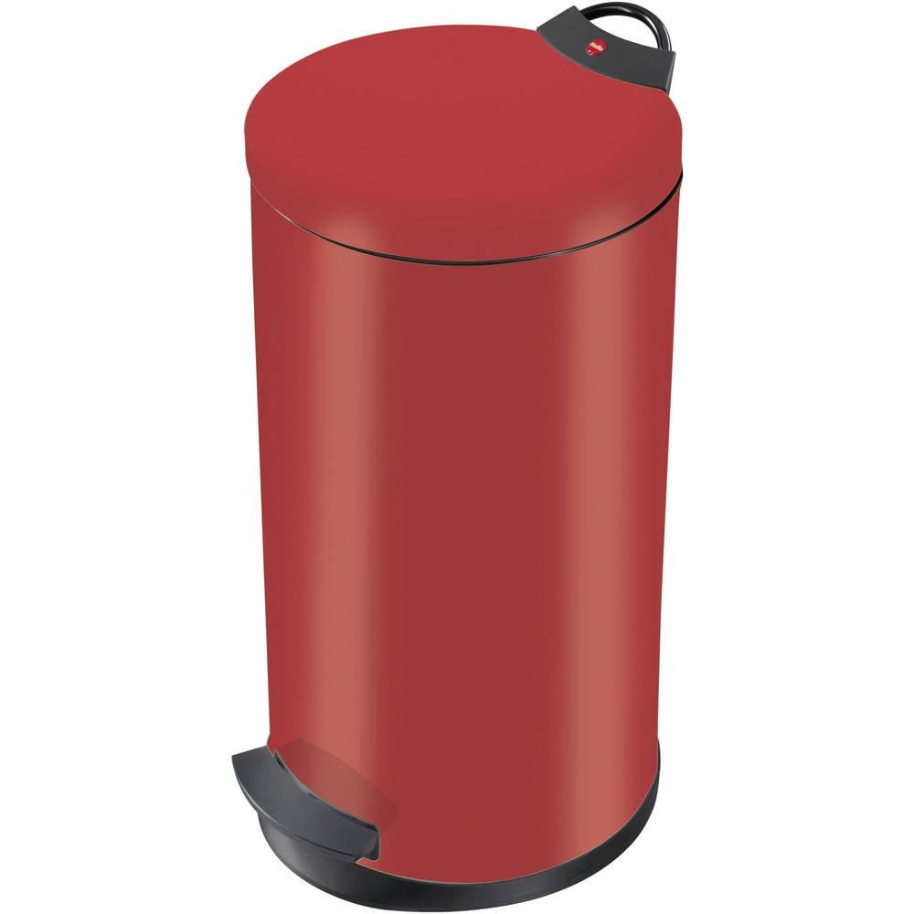 Koš za odpadke 20 l Hailo T2 L (premer x V) 270 mm x 595 mm rdeče barve, nožno odpiranje 1 kos