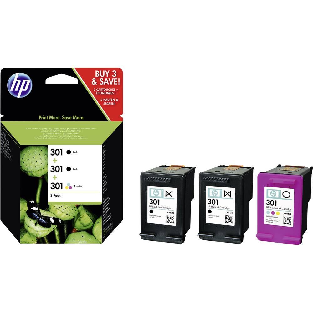 Tiskalni vložek Kombi-Pakiranje Original HP 301 črna, cian, magenta, rumena E5Y87EE
