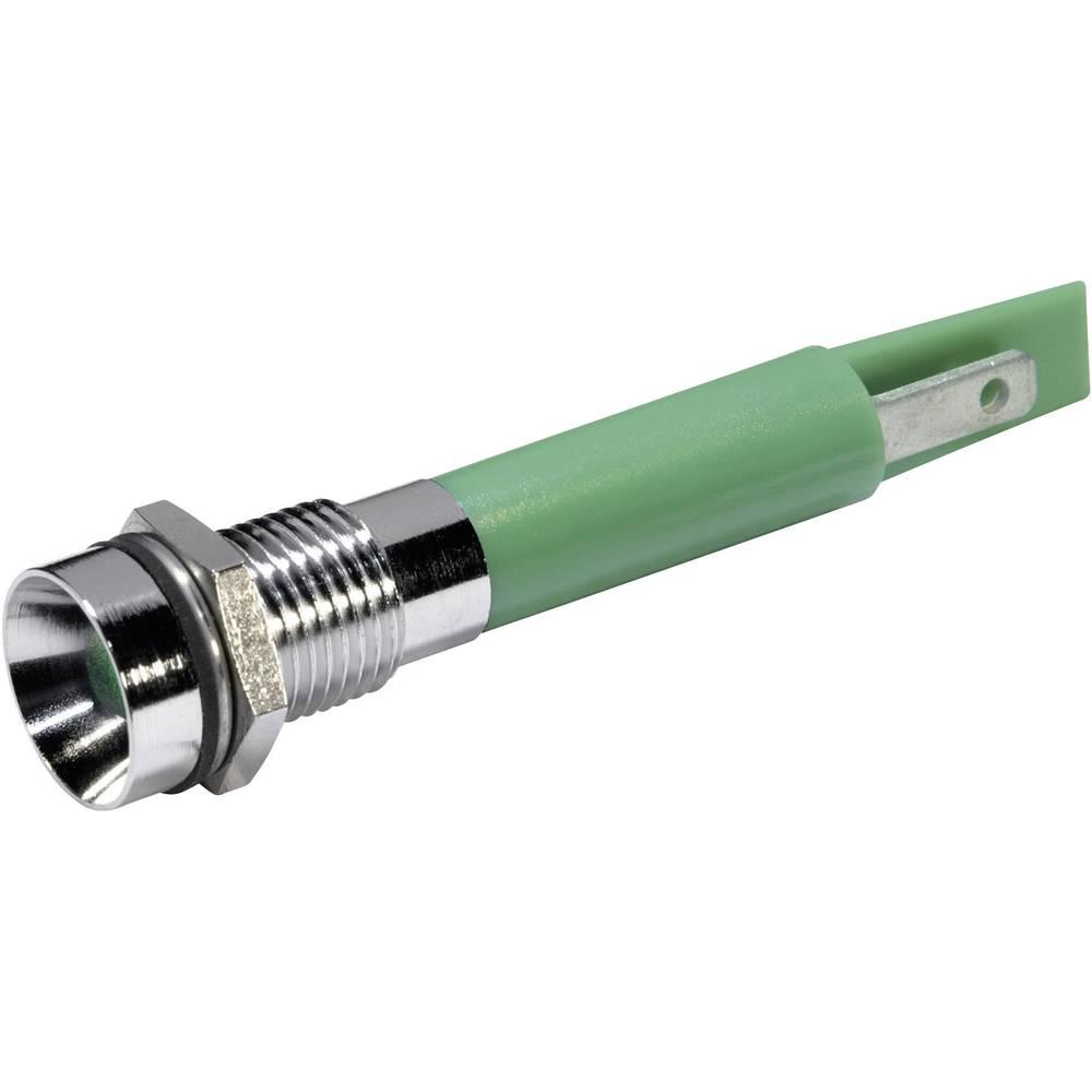LED-signallampe CML 19500431 230 V/AC 3 mA Grøn