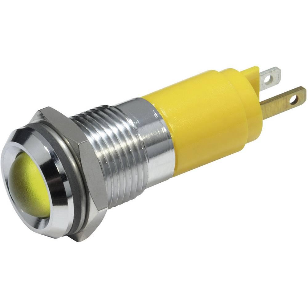 LED-signallampe CML 19350233 230 V/AC 3 mA Gul