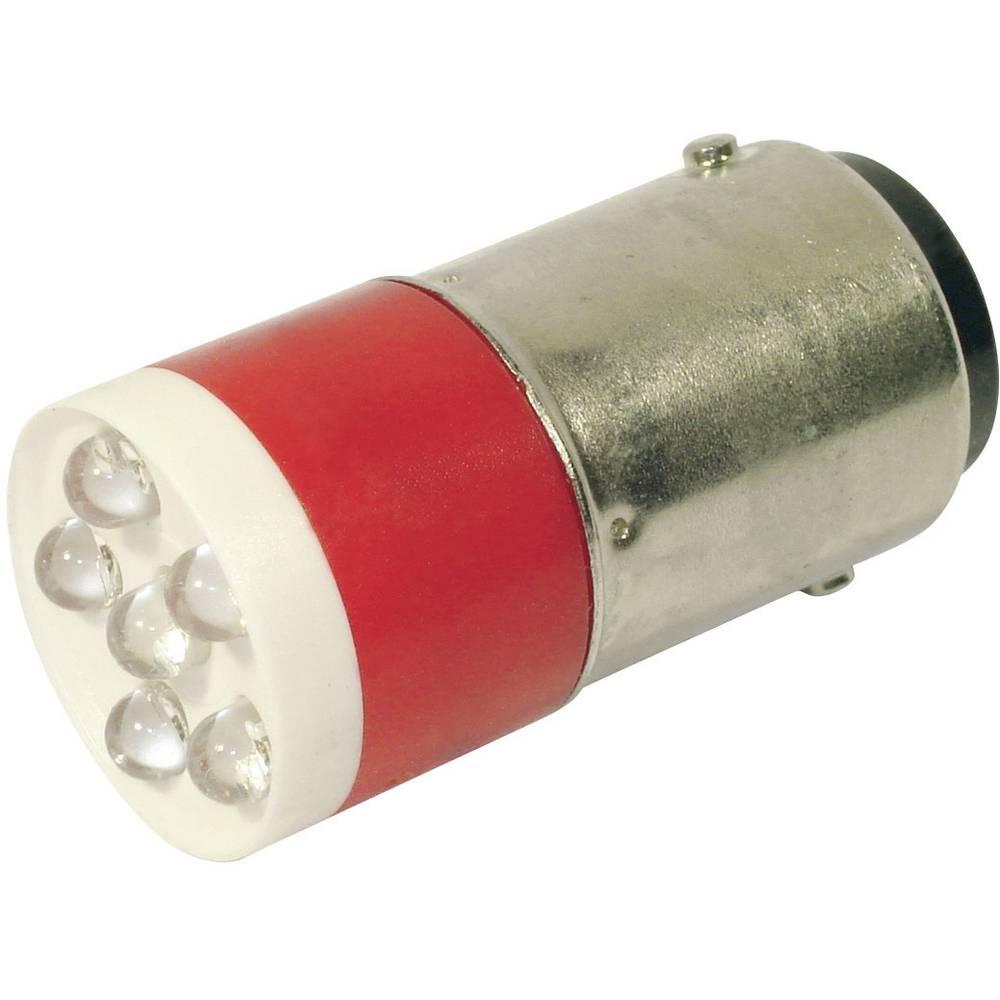 LED žarnica BA15d rdeča 24 V/DC, 24 V/AC 1260 mcd CML 18640350C