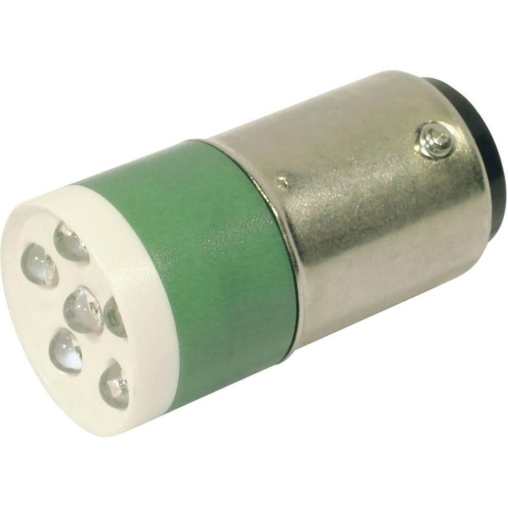 LED žarnica BA15d zelena 24 V/DC, 24 V/AC 3150 mcd CML 18640351