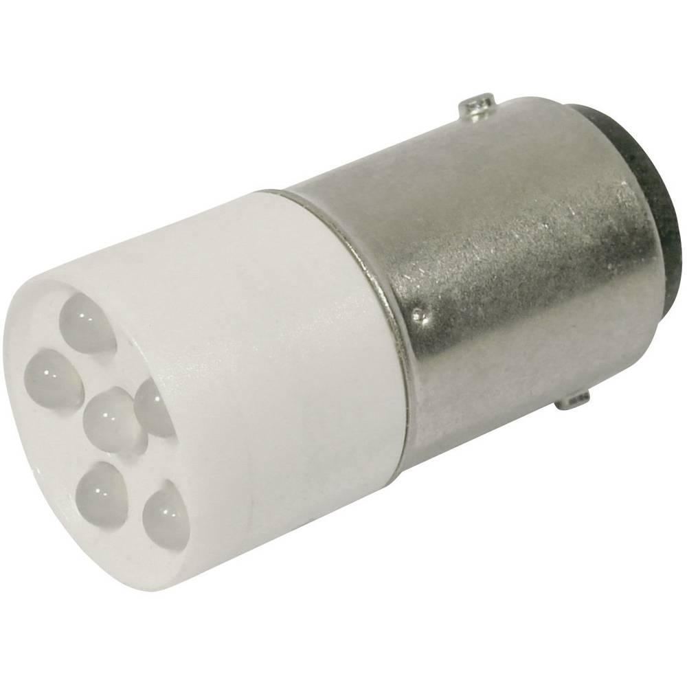 LED žarnica BA15d hladno bela 24 V/DC, 24 V/AC 2400 mcd CML 1864035W3