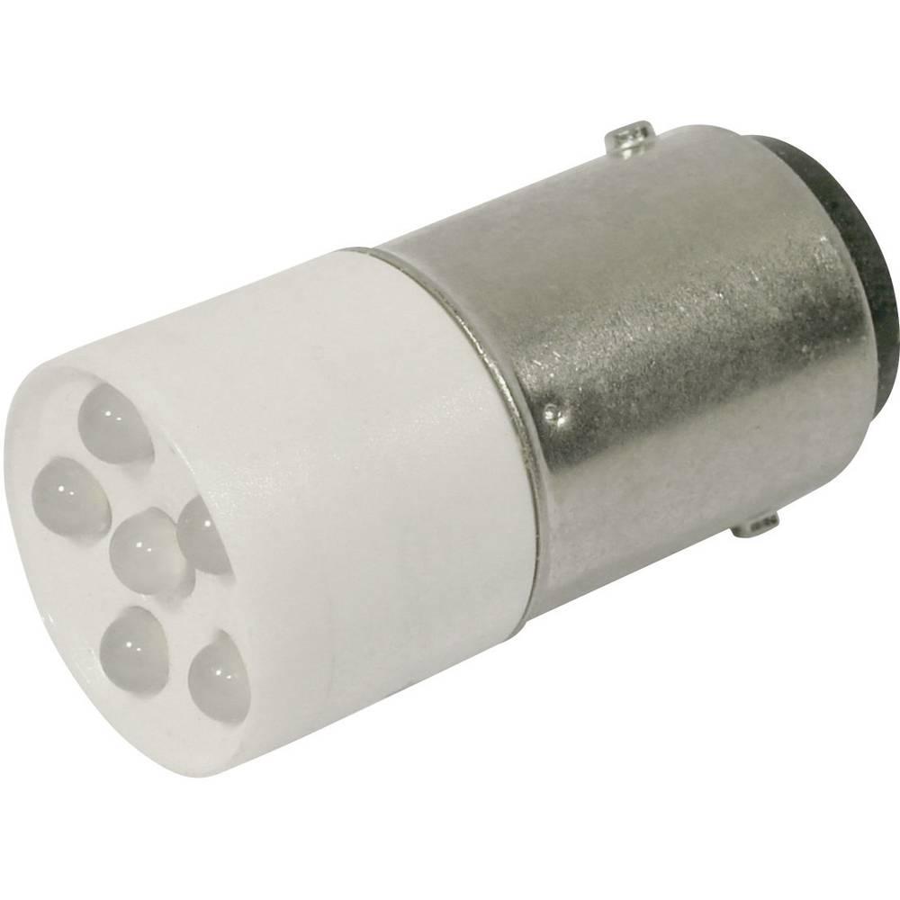LED-diode CML BA15d 24 V/DC, 24 V/AC 1200 mcd Kølig hvid