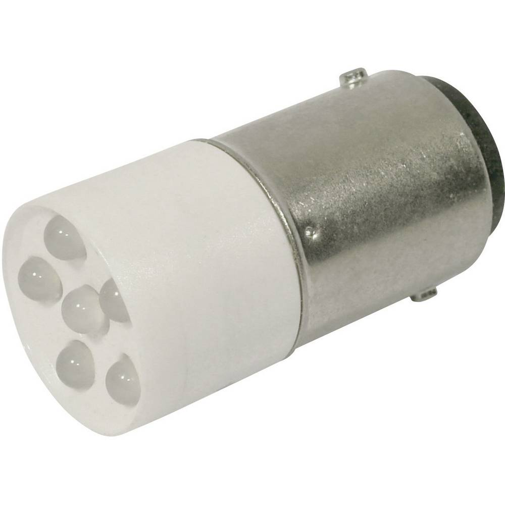 LED žarnica BA15d hladno bela 24 V/DC, 24 V/AC 1200 mcd CML 1864035W3D