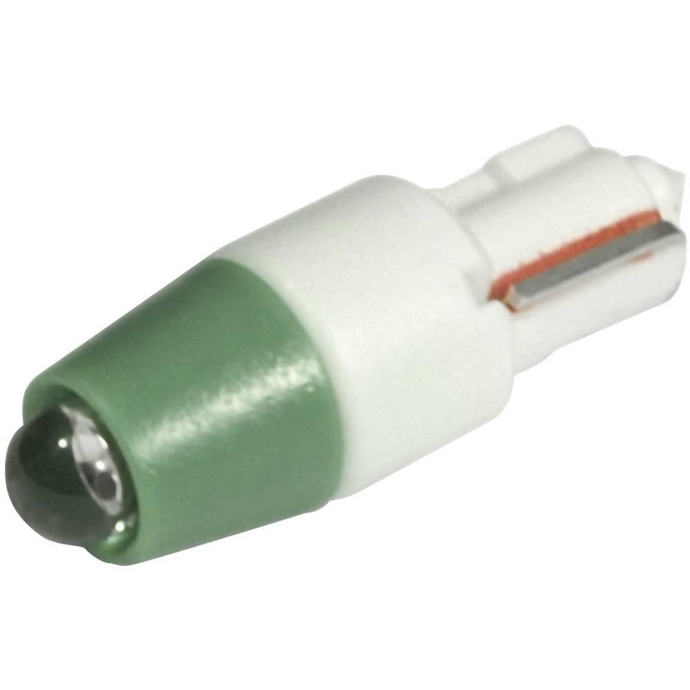 LED žarnica W2x4.6d zelena 24 V/DC, 24 V/AC 1500 mcd CML 1511A35UG3