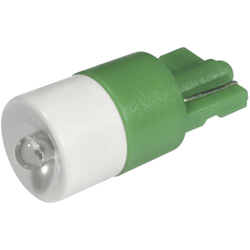 LED žarnica W2.1x9.5d zelena 12 V/DC, 12 V/AC 2100 mcd CML 1511B25UG3