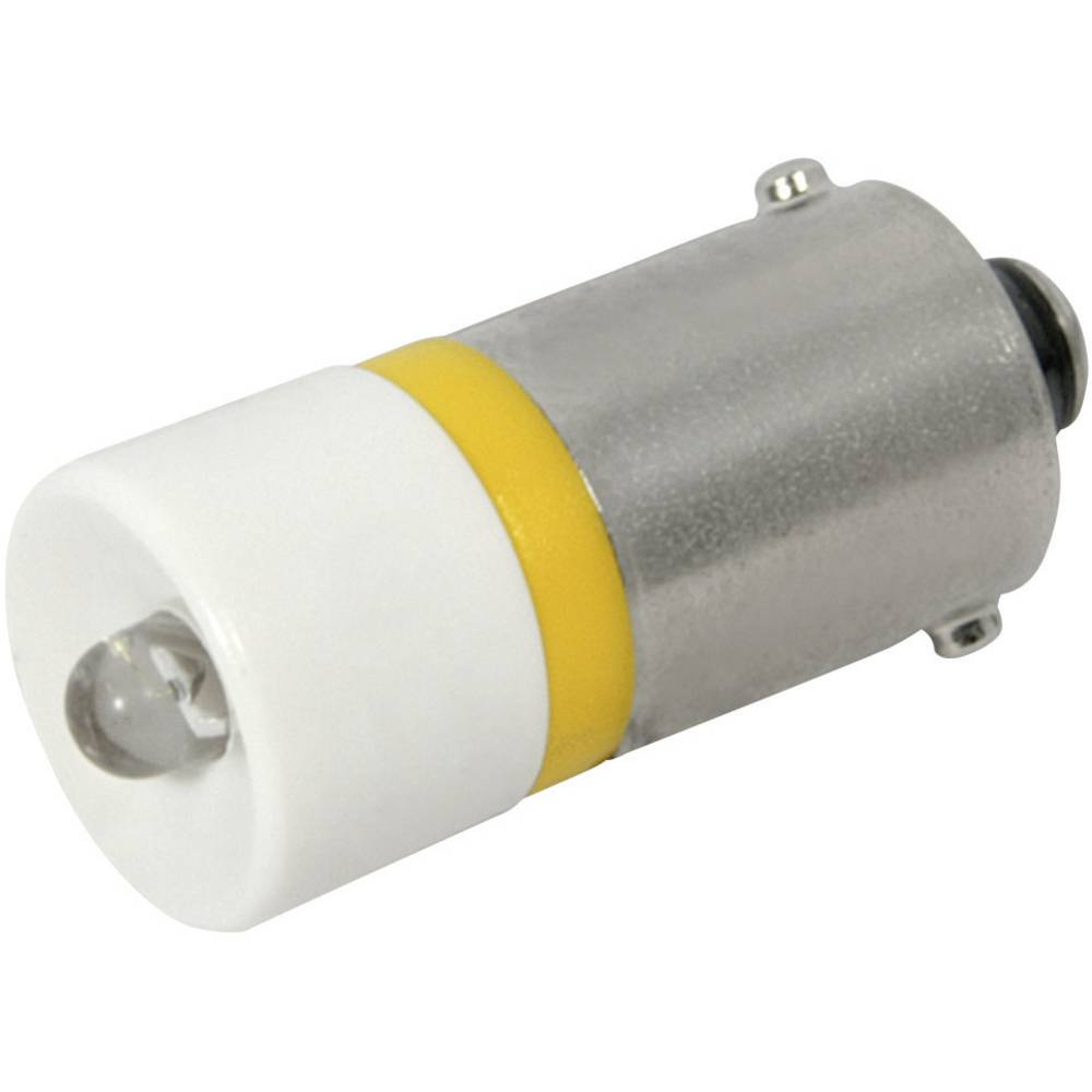 LED-Lampe (value.1317402) CML BA9s 24 V/DC, 24 V/AC 300 mcd Gul