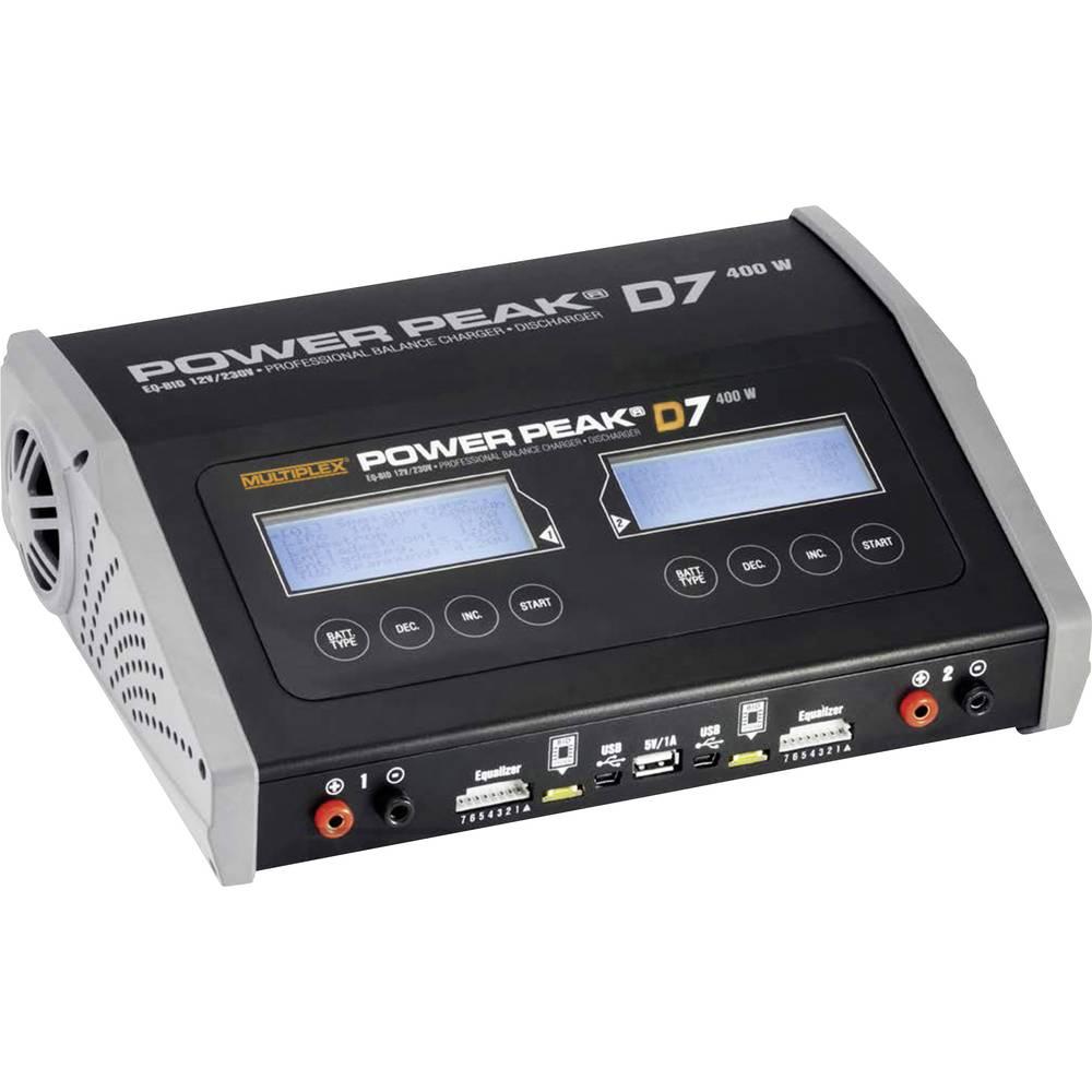 Večfunkcijski modelarski polnilnik Robbe Power Peak D7 EQ-BID, 12 V, 220 V, 20 A, primeren za baterije NiMH, NiCd, LiPo, LiIon in LiFe