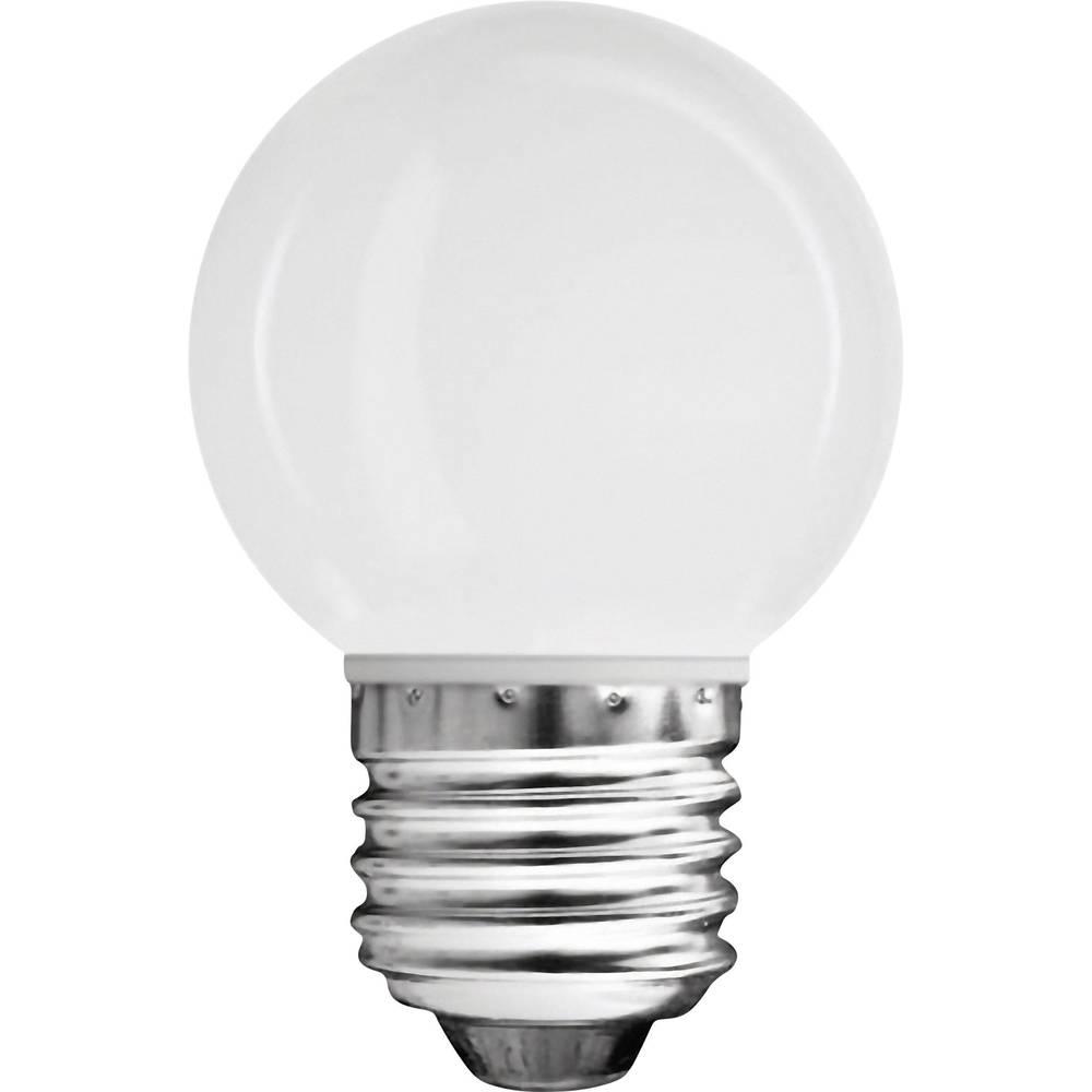 LED žarulja (jednobojna) 71 mm Müller Licht 230 V E27 0.6 W = 4 W toplo-bijelo KEU: A++ Oblik kapljice sadržaj 1 kom.