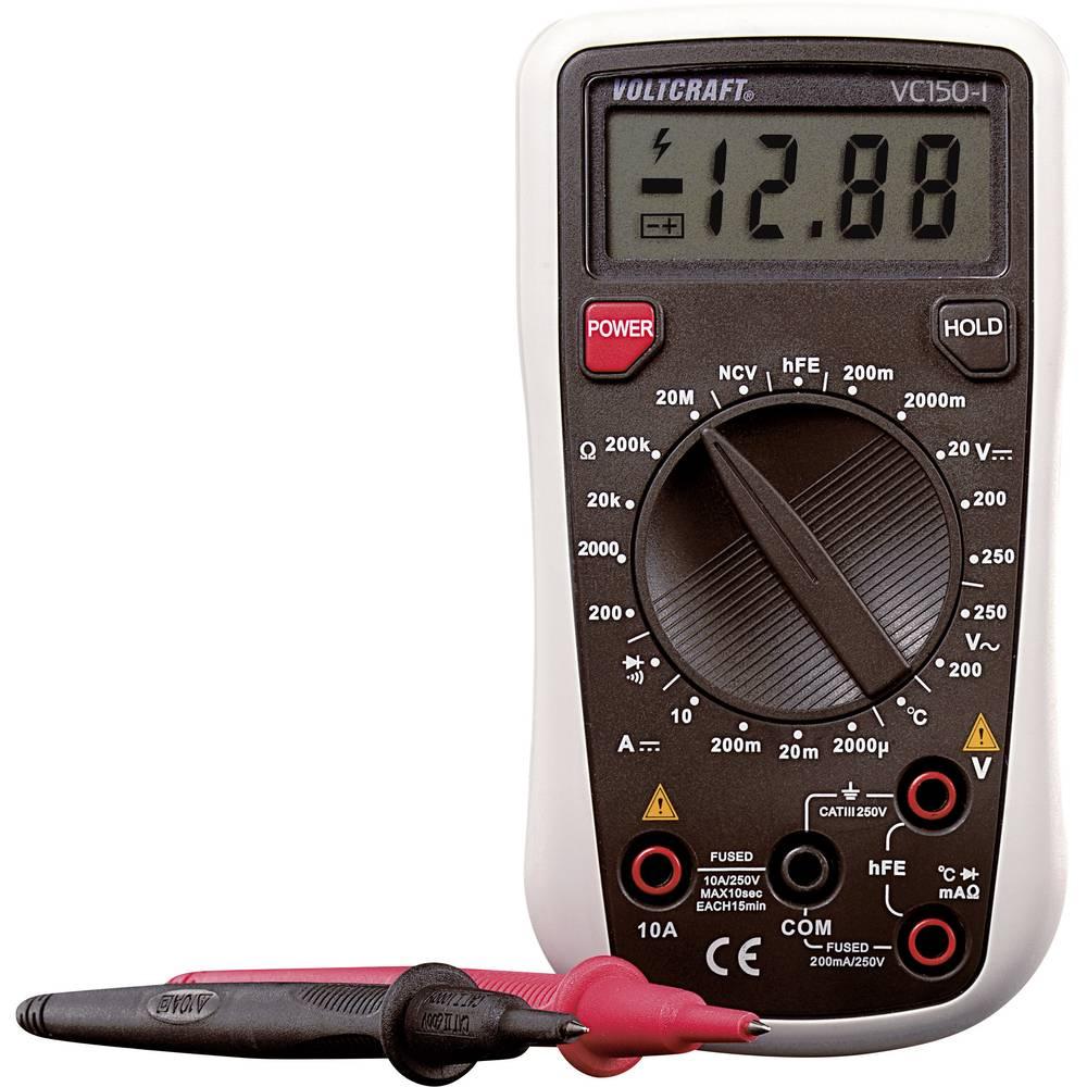 Ročni multimeter, digitalni VOLTCRAFT VC150-1 kalibracija narejena po: DAkkS CAT III 250 V število znakov na zaslonu: 2000