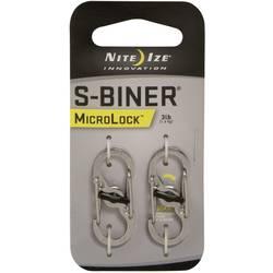 Dvojni karabin Nite Ize S-Biner MicroLock, NI-LSBM-11-2R3, 2 kosa, srebrne barve