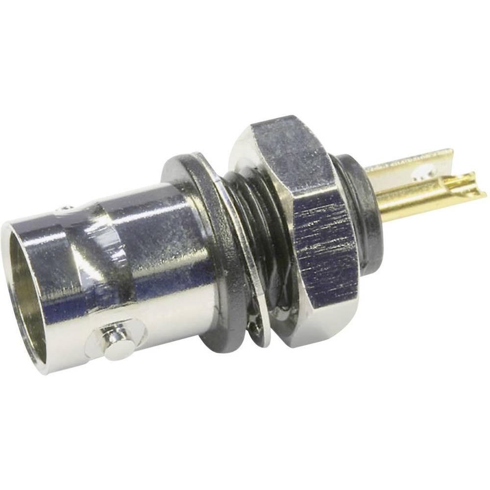 BNC-stikforbindelse Telegärtner J01001D0043 50 Ohm Tilslutning, indbygning lodret 1 stk
