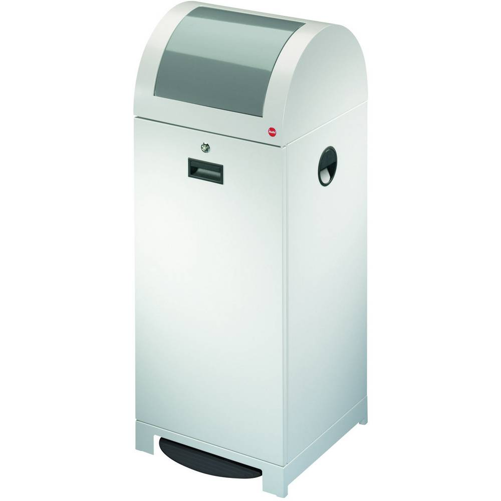 Koš za odpadke 70 l Hailo ProfiLine WSB plus XXL (Š x V x G) 400 x 1020 x 400 mm bele barve, aluminij, nožno odpiranje 1 kos