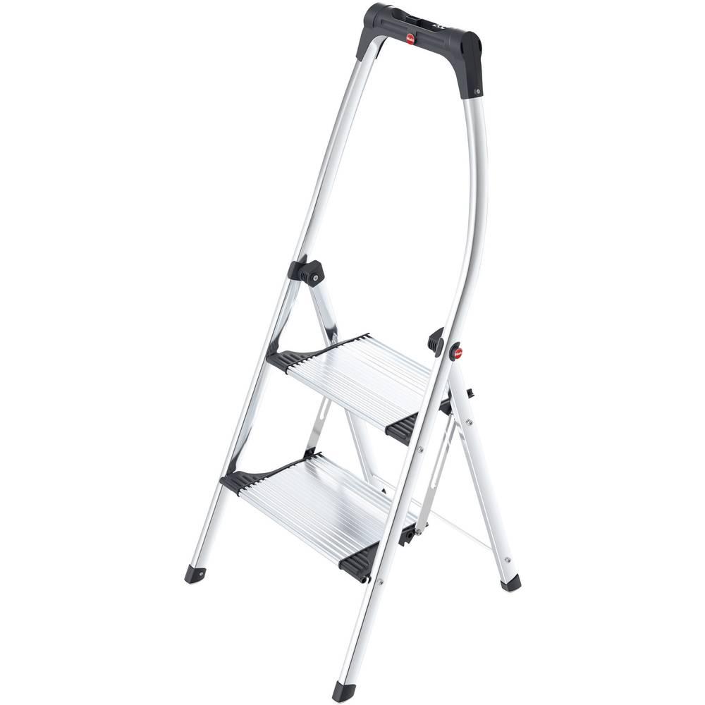 Aluminijske sklopive ljestve, radna visina (maks.): 2.25 m Hailo LivingStep Comfort Plus 4302-301 srebrne, crne boje 5.2 kg
