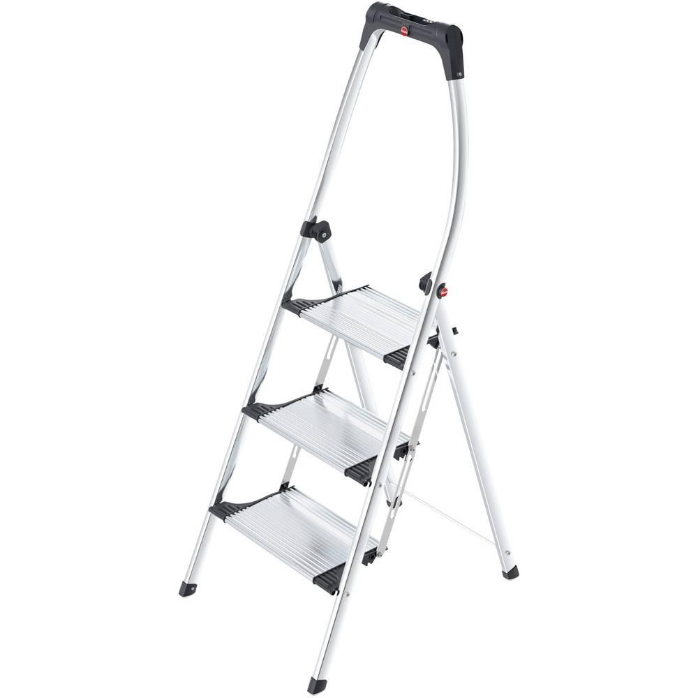 Aluminijske sklopive ljestve, radna visina (maks.): 2.50 m Hailo LivingStep Comfort Plus 4303-301 srebrne, crne boje 7.3 kg