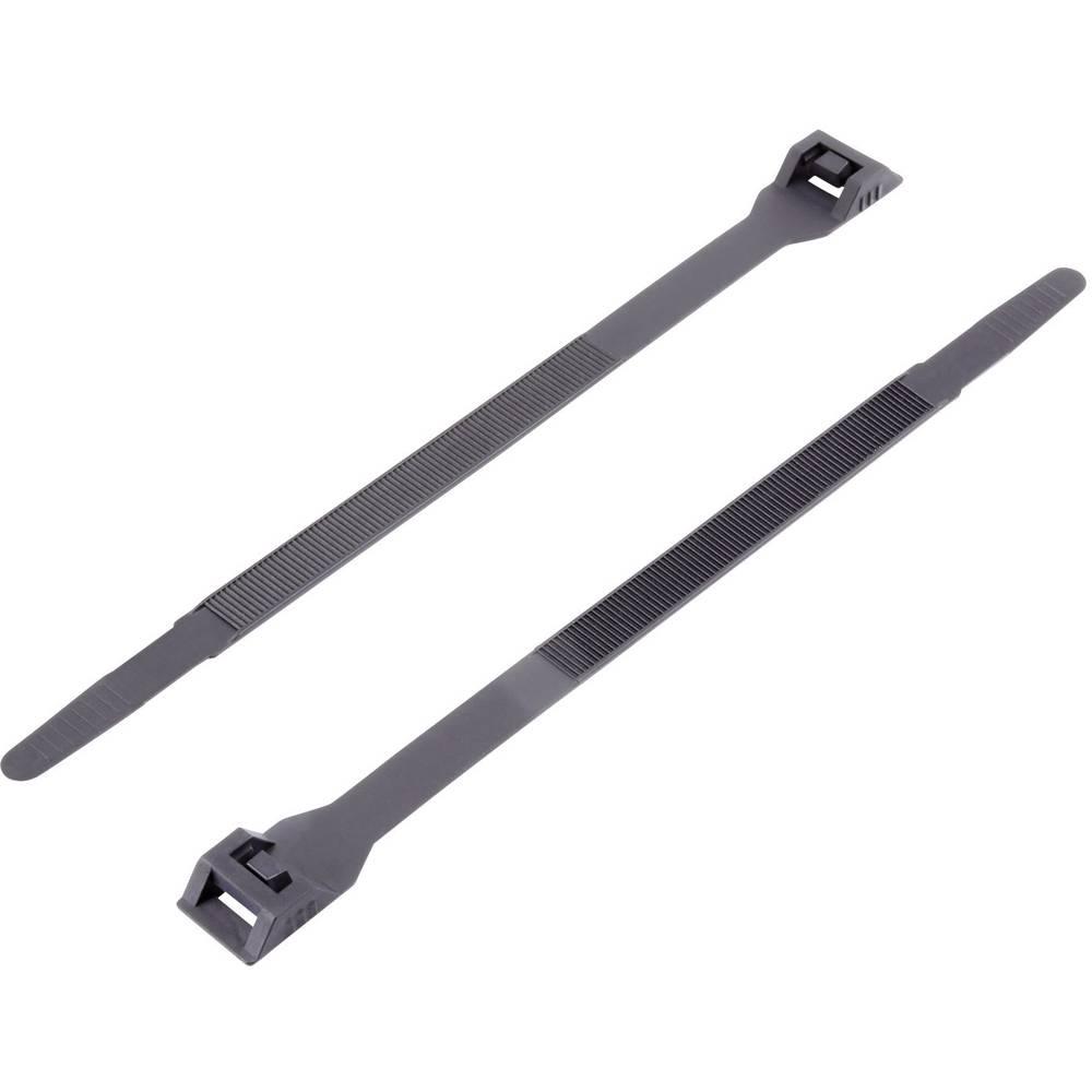 Kabelske vezice 132 mm črne barve z dvojno glavo KSS DK-132SBK 1 kos