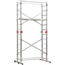 Hailo 9459-501 aluminijasti večnamenski delovni oder 1-2-3 500 Combi, delovna višina (maks.): 4.35 m