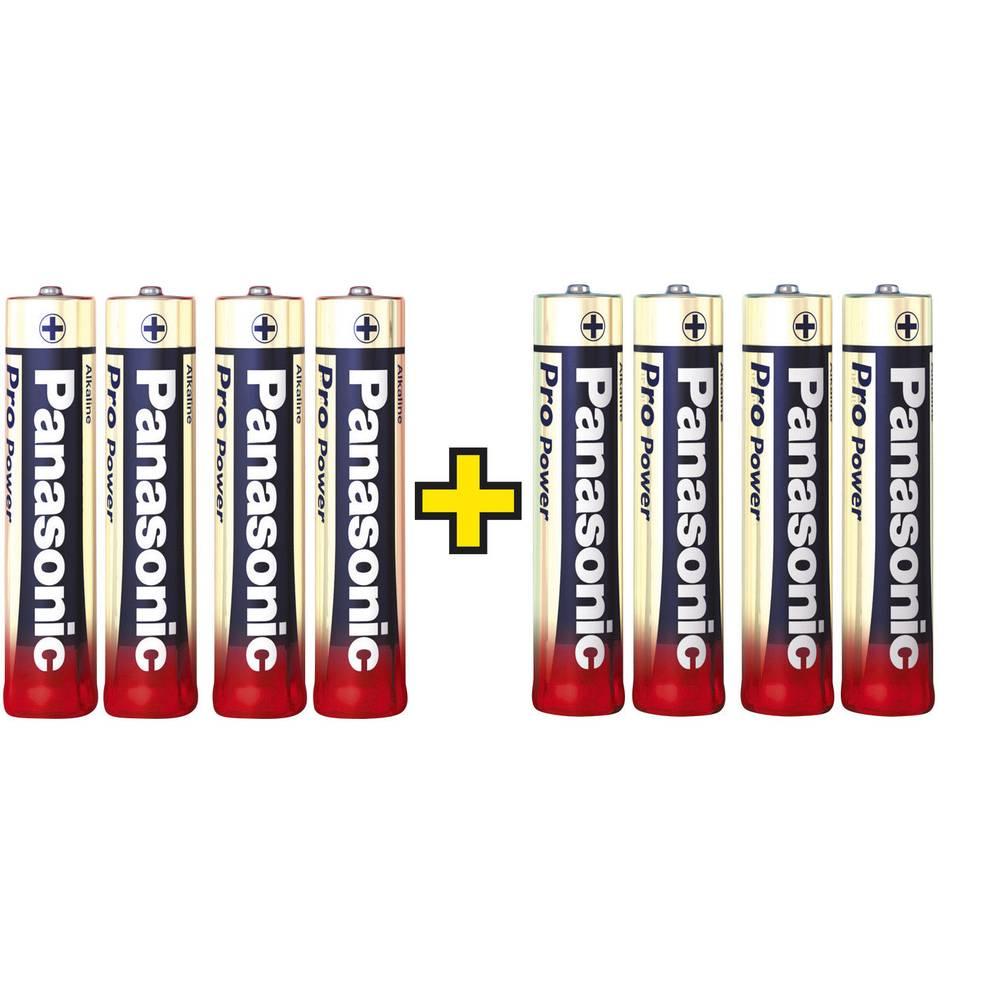 Micro baterija (AAA) alkalno-manganova Panasonic Pro Power 4 + 4 gratis 1.5 V 8 kosov
